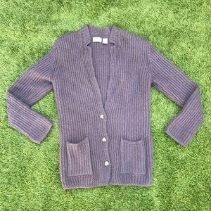 vtg Liz Claiborne purple oversized grandpa sweater